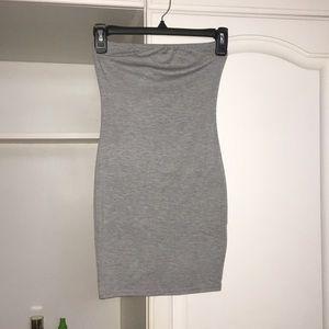 Boohoo petite grey tube dress- new with tags